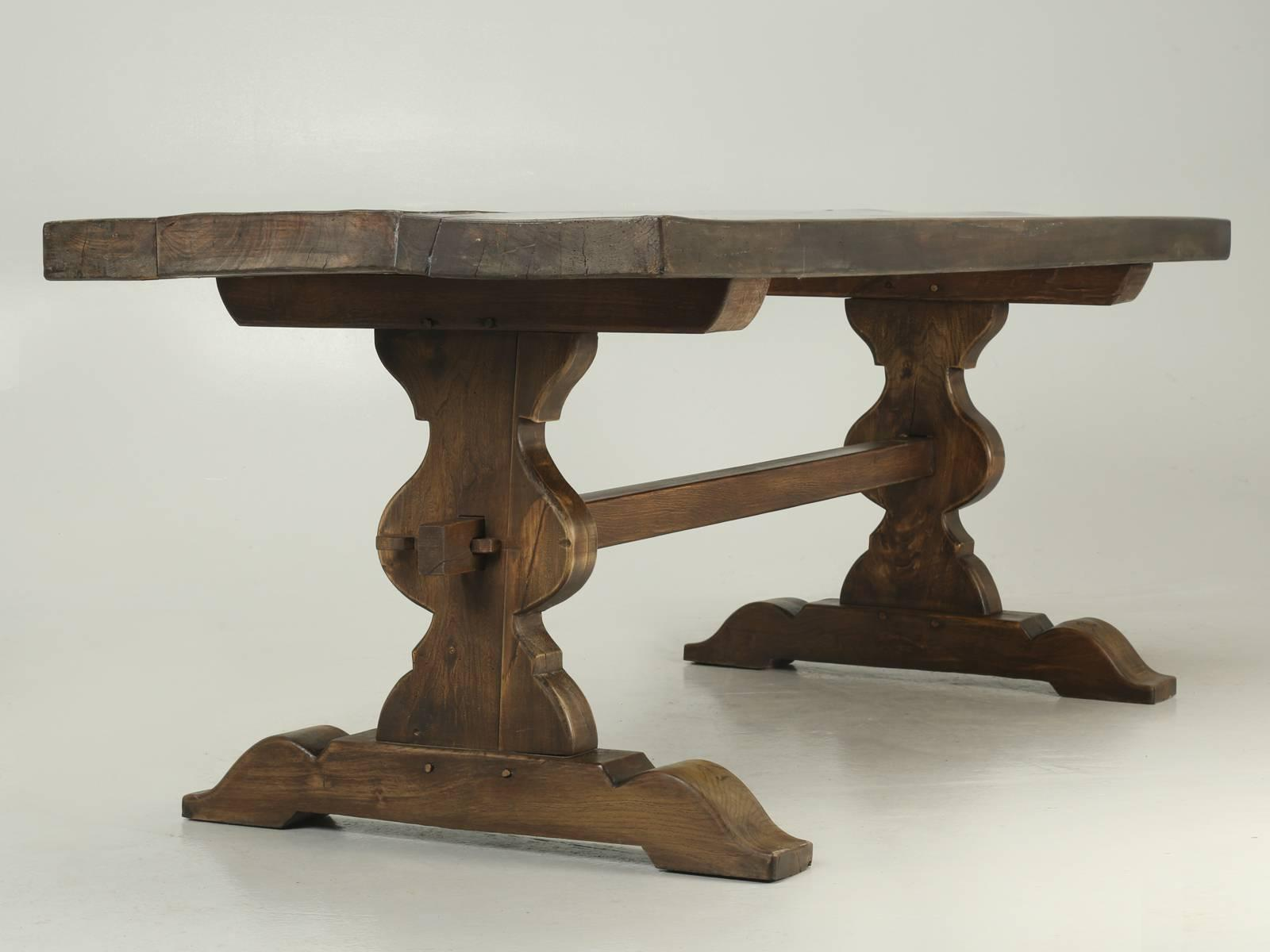 Merveilleux Antique French Trestle Dining Table, Circa 1900 For Sale   Image 10 Of 10