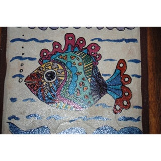 Late 20th Century Hand Made Decorative Fish Tile Table Preview