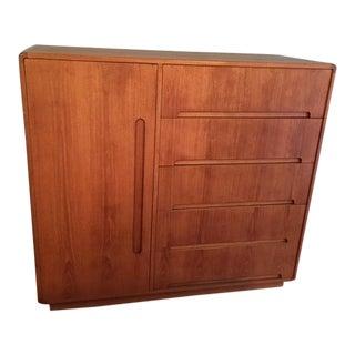 1980s Mid-Century Modern Scan Design Teak Gentlemen's Dresser For Sale