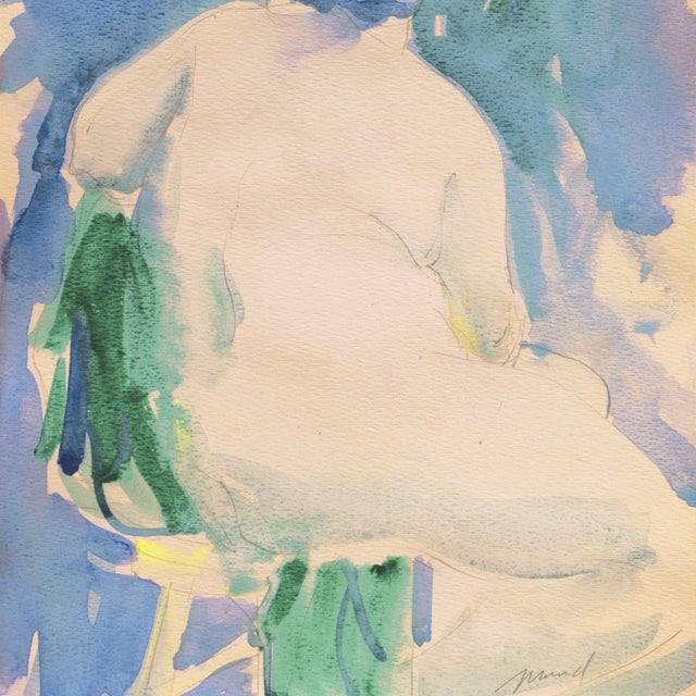 'Nude in a Green Hat' by Marvin Mund, San Francisco Impressionist Figural, Legion of Honor For Sale - Image 4 of 6