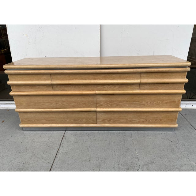 Jay Spectre Chest of Drawers in Cerused Oak For Sale - Image 12 of 12