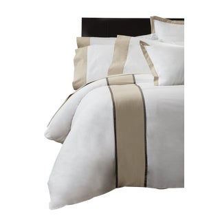 Monte Carlo Banded Duvet Cover King - Pumice For Sale