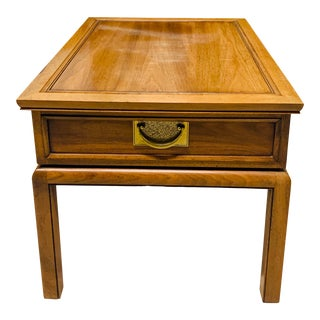 Vintage Hekman Chinoiserie Side Table or Nightstand For Sale