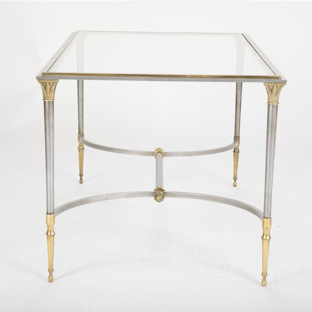 Maison Charles Steel & Bronze Glass Top Coffee Table For Sale In New York - Image 6 of 13