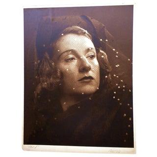 W. O. Breckon Original Portrait Photograph Signed & Gift to O. E. Romig For Sale