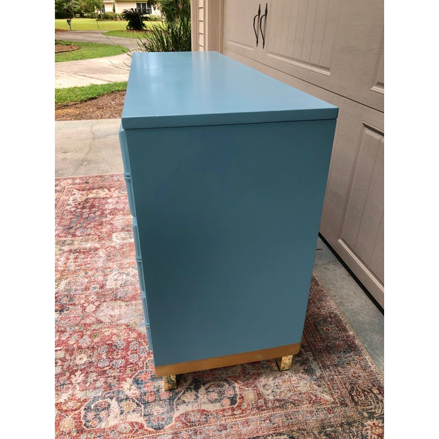 Vintage Faux Bamboo and Caned Dresser For Sale In Savannah - Image 6 of 13