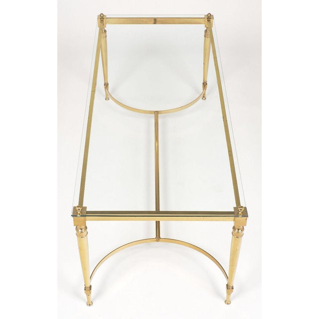 Brass Mid-Century Vintage Brass Coffee Table For Sale - Image 7 of 10