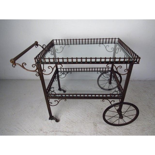 Ornate Vintage Bar or Tea Cart For Sale - Image 4 of 11