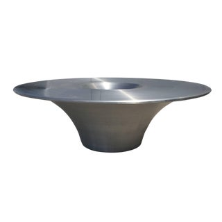 """""""Alien"""" Brushed Metal Coffee Table by Yasuhiro Shito for Cattelan Italia For Sale"""