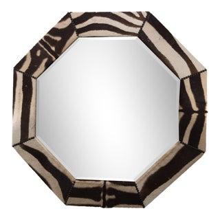 Octagonal Zebra Hide Mirror