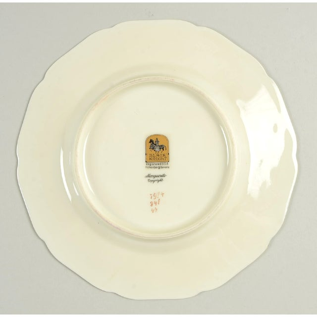 Early 20th Century Black Knight Margarite Salad Plate - Set of 8 For Sale - Image 5 of 7