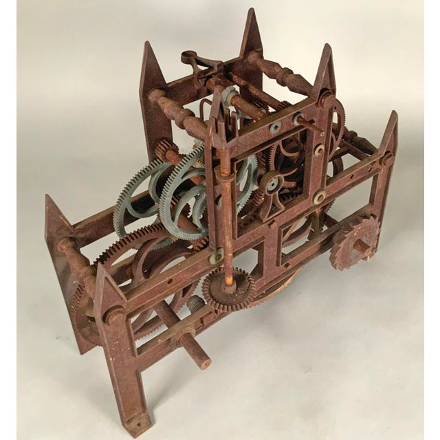 Late 19th Century 19th Century Large Iron Clockworks For Sale - Image 5 of 10