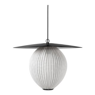 Mathieu Matégot 'Satellite' Pendant in Black and White Metal For Sale