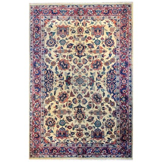 Exceptional Late 19th Century Sarouk Mohajeran Rug For Sale