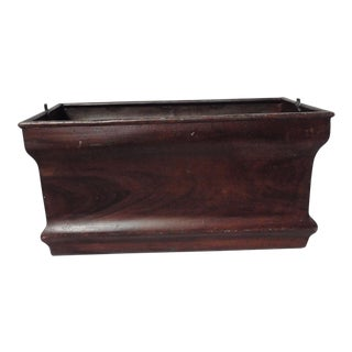 French Faux Bois Metal Planter For Sale