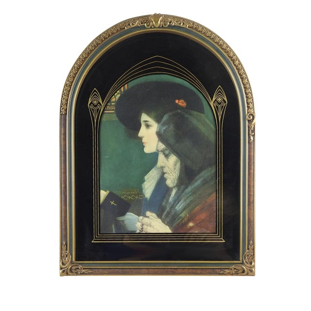 Art Nouveau Frame With Print For Sale