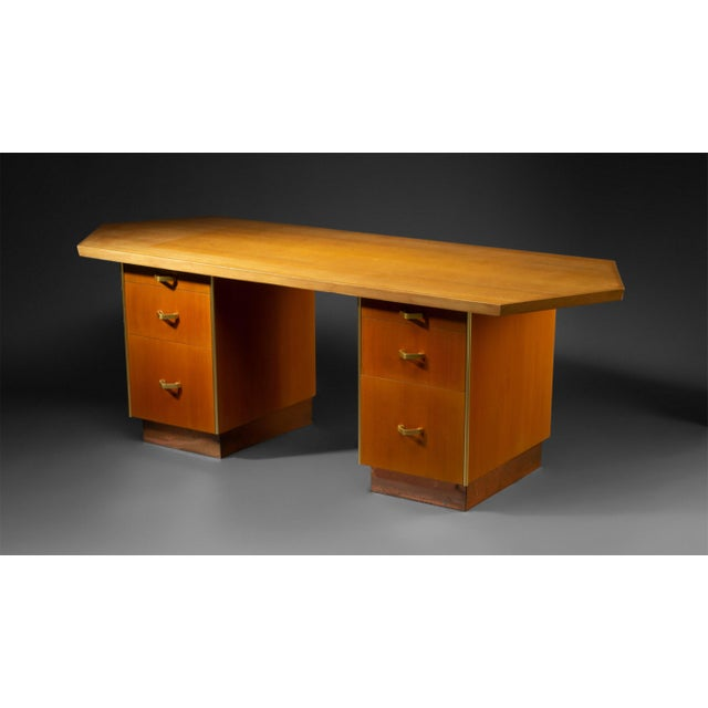 This is a unique studio produced desk designed by Frank Lloyd Wright for the Price Tower in Bartlesville Oklahoma. This...