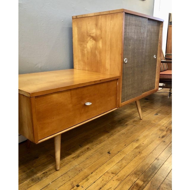 Tan Vintage Paul McCobb Planner Group Modular Cabinet 1950's For Sale - Image 8 of 10