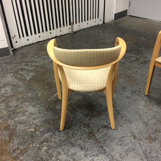 Mid-Century Light Maple Lowenstein Dining Chairs - Set of 7 For Sale In San Francisco - Image 6 of 8