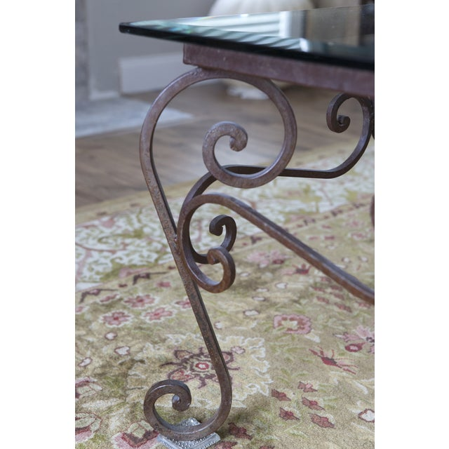 Brimfield Iron and Glass Coffee Table For Sale - Image 4 of 4