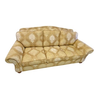 Ethan Allen Rolled Arm Large Sofa Couch For Sale