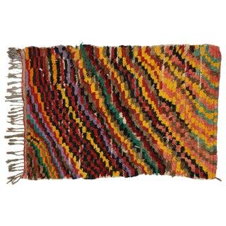 Vintage Berber Moroccan Boucherouite Rug For Sale