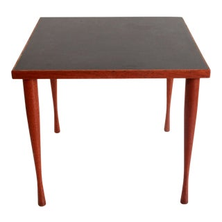 Mid Century Danish Modern Hans C. Andersen Teak & Black Side Table For Sale
