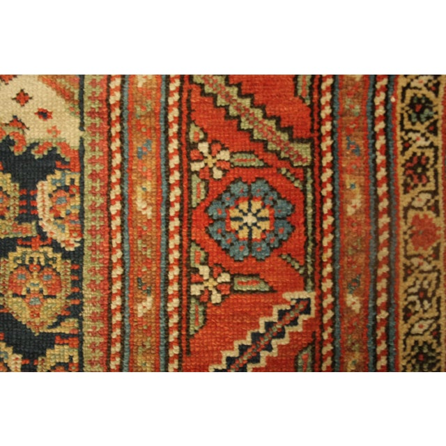 "Long Vintage Hand-Knotted Wool Rug - 13′5″ X 3'8"" - Image 10 of 11"