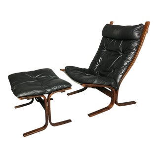 "Ingmar Relling ""Siesta"" Lounge Chair + Ottoman, Norway 1960s For Sale"