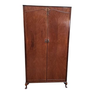 Deco Walnut Fitted Robe C.1940s For Sale