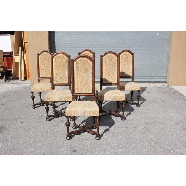Country 1900s Vintage French Louis XIII Style Dining Chairs - Set of 6 For Sale - Image 3 of 13