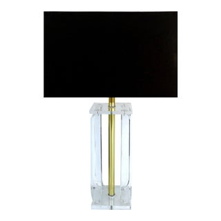 Mid-Century Modern Lucite Table Lamp