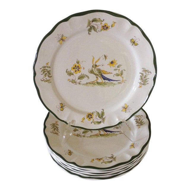 French Varages Plates - Set of 6 For Sale