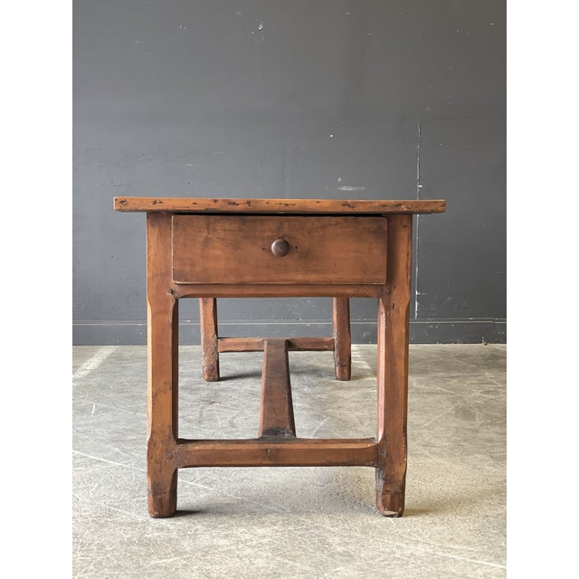 French 1800's Primitive French Dining/Work Table/Console For Sale - Image 3 of 13