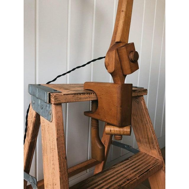 Vintage Wooden Desk Lamp For Sale - Image 4 of 5