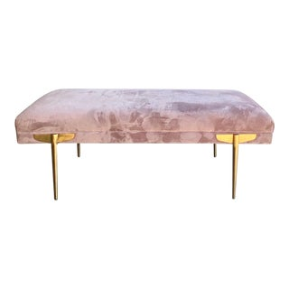 Contemporary Lavender Velvet Bench For Sale