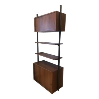 Mid Century Modern Wall Unit Cabinet Shelving Unut For Sale