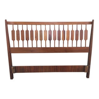 Kipp Stewart for Drexel Declaration Walnut Headboard and Footboard