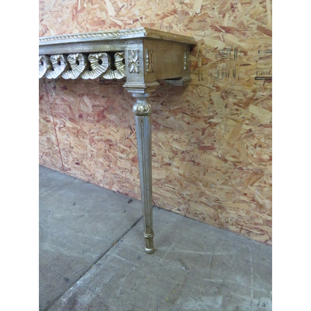 Florentine Florentine Silver Gilt Console Table For Sale - Image 4 of 5