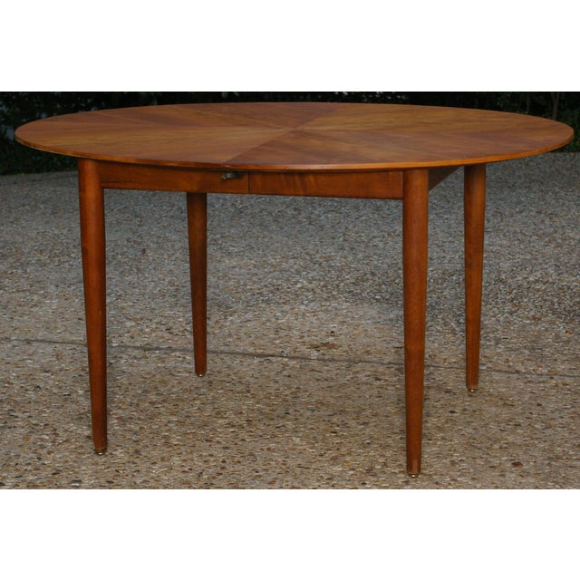 Baker Mid-Century Walnut Dining Table - Image 2 of 8