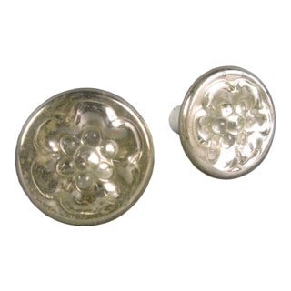 Mercury Glass Tiebacks - a Pair For Sale