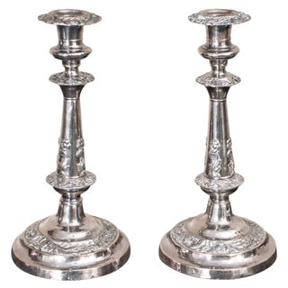 Sheffield Silver Candlesticks - a Pair For Sale