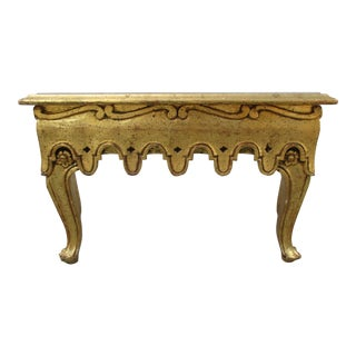 20th Century Italian Giltwood Low Hall or Pier Mirror Table For Sale