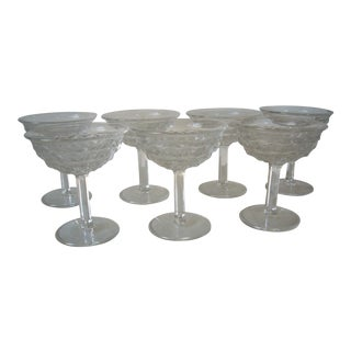 1950s American Fostoria Coupes - Set of 7 For Sale