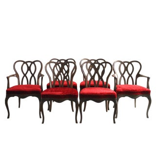 French Provincial Pretzel Back Dining Chairs - Set of 6 For Sale