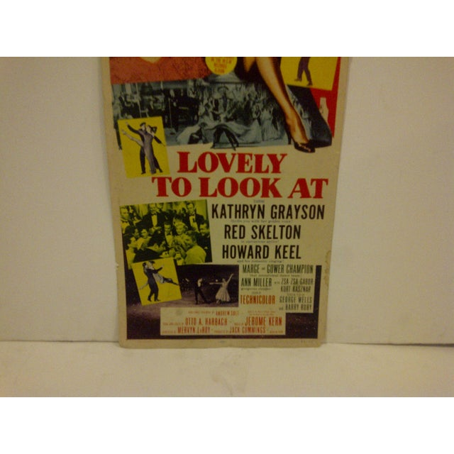 """Vintage Movie Poster """"Lovely to Look At"""" Kathryn Grayson & Red Skelton - 1952 For Sale - Image 4 of 6"""