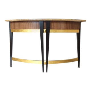 Art Deco Baker Furniture Company Marble Top Console Table For Sale