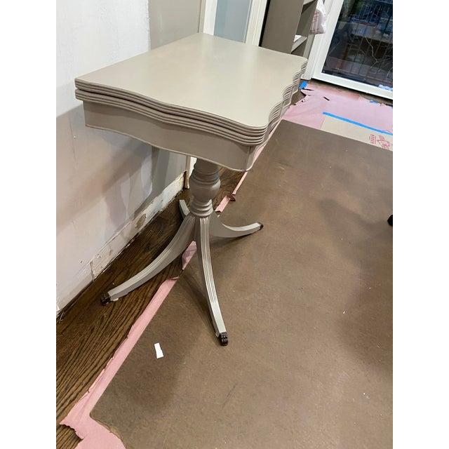 Vintage Traditional Flip Top Pedestal Table For Sale - Image 10 of 13