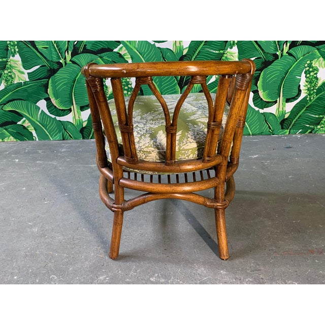 1970s Pair of Bamboo Club Chairs in the Style of McGuire For Sale - Image 5 of 12
