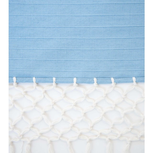 Sky Blue Mexican Throw - Image 6 of 6